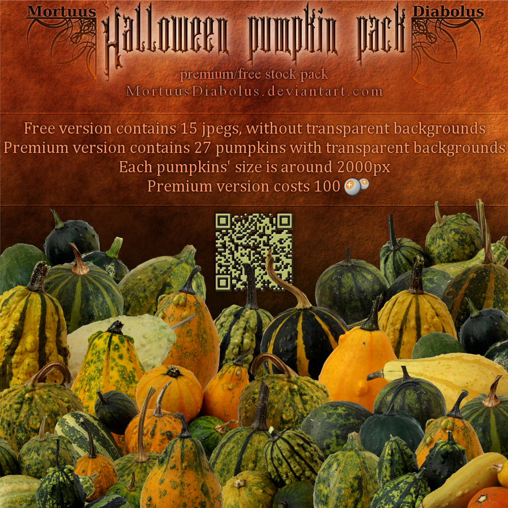 Halloween pumpkin stock pack by MortuusDiabolus