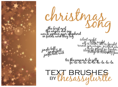 Christmas Song Text Brushes