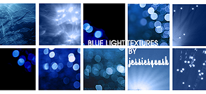 Blue Light Textures by jessiesquash
