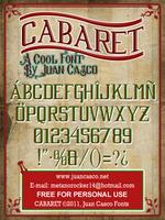 Cabaret Font by DarkoJuan