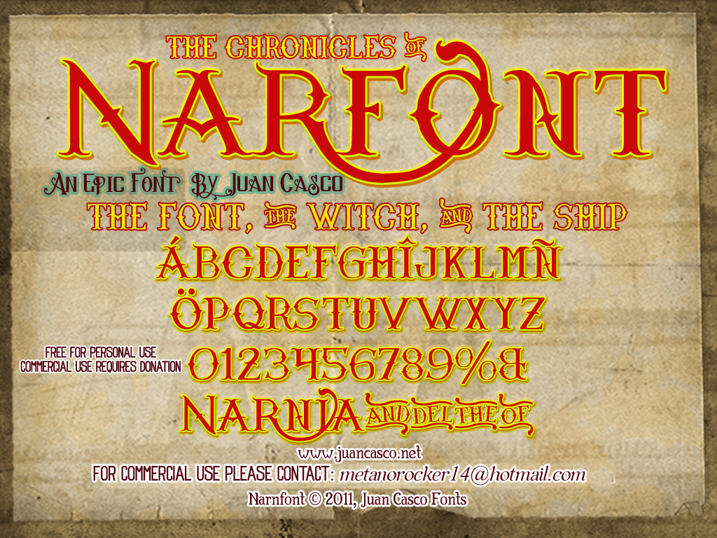 Narnfont by DarkoJuan