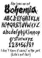 Bohemia Font by DarkoJuan