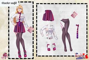 MCLU pack-Teacher outfit by FNAFfanart67