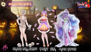 MCL UL pack- Halloween outfits 3 by FNAFfanart67