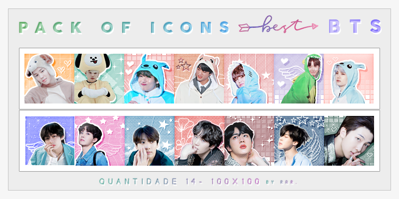 BTS ICONS - PACK 2 by RohARamos