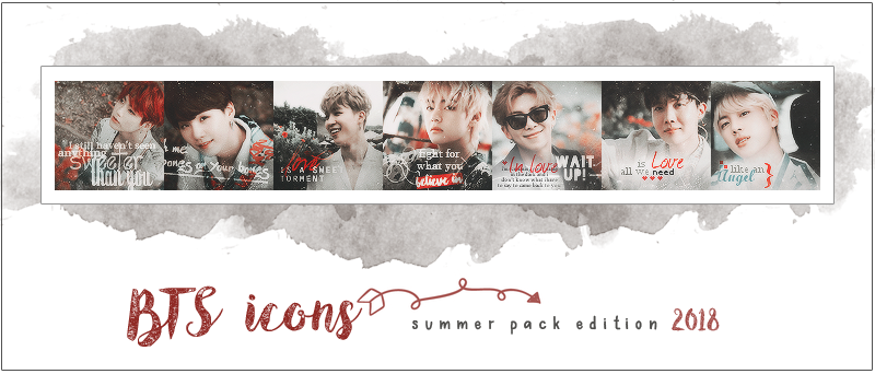 BTS ICONS - PACK SUMMER EDITION 2018 by RohARamos