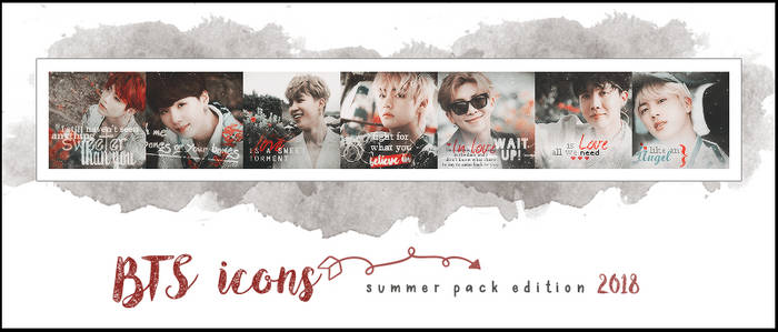 BTS ICONS - PACK SUMMER EDITION 2018