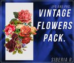 Vintage Flowers Pack -  JPG AND PNG.