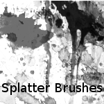 Splatter brushes for GIMP by TangibleAlibi