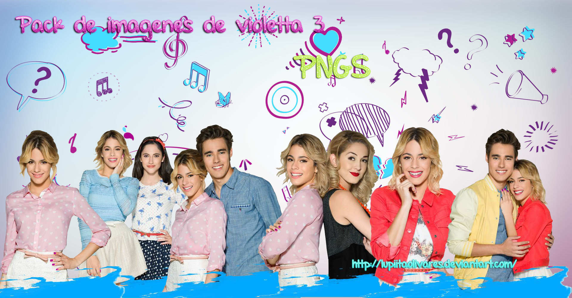 Pack Violetta3  PNG-S by LupiitaOlivares