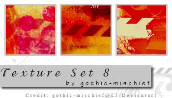 Texture Set 8 by gothic-mischief