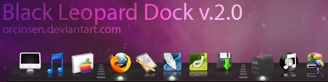 Black Leopard 3D Dock v.2.0 by orcinsen