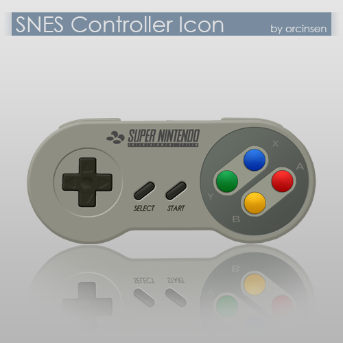 SNES Controller Icon by orcinsen on DeviantArt