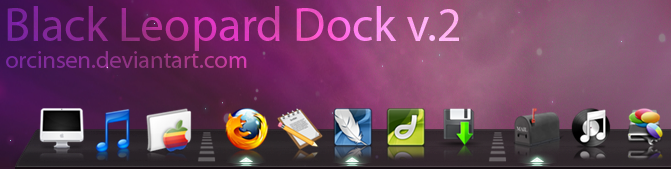 Black Leopard 3D Dock v. 2.1 by orcinsen