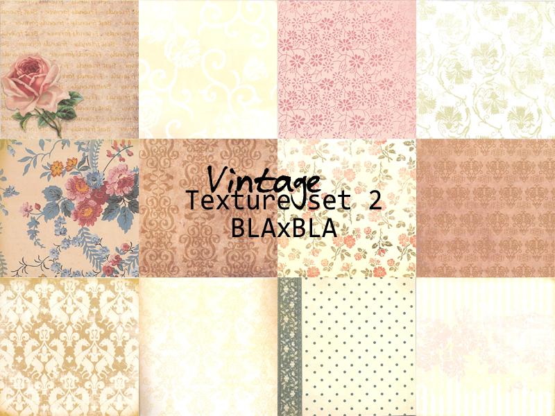 Vintage texture set 2 by BLAxBLA