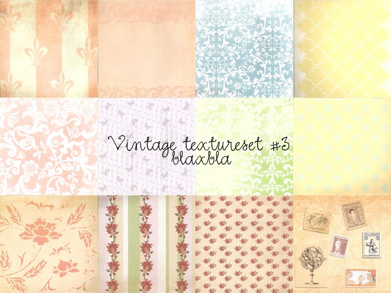 Vintage texture set 3 by BLAxBLA