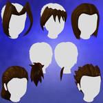 Anime Hair Set 1 for Animedoll