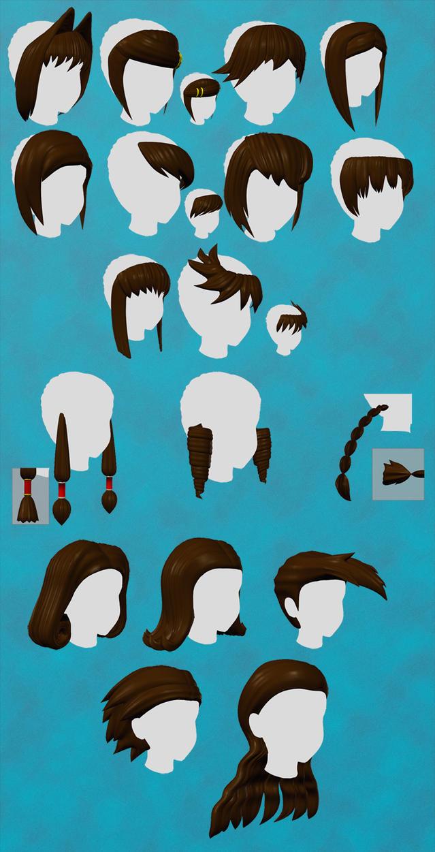 Anime Hair Set Vol.2 -Updated- by nekketsukyoujin
