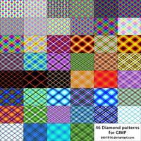 46 Diamond Patterns for GIMP by bkh1914