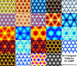 24 Triangle Patterns for GIMP