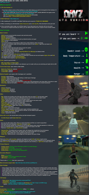 DayZ GTA Guide by PrimoTurbo on DeviantArt