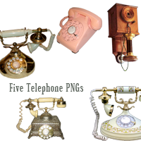 Five Telephone PNGs by desperatedeceit