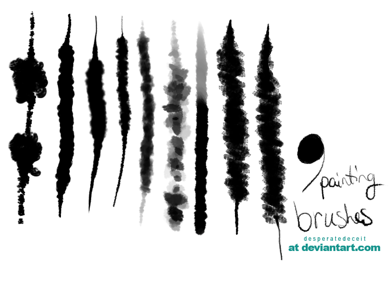 Ebullient| 9 Painting Brushes by desperatedeceit