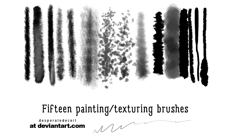 Soft Shock Painting Brushes by desperatedeceit