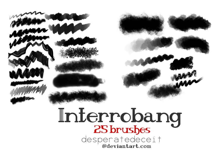 Interrobang Painting Brushes