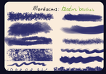 Mordacious Texture Brushes by desperatedeceit