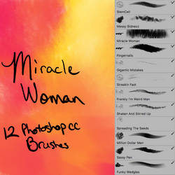 Miracle Woman Photoshop CC Brushes by desperatedeceit