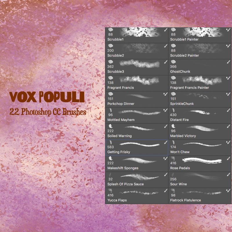 Vox Populi Photoshop CC Brushes by desperatedeceit