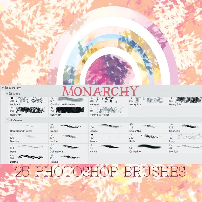 Monarchy Photoshop CC Brushes by desperatedeceit