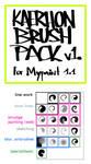 Kaerhon Brush Pack v1 for Mypaint 1.1