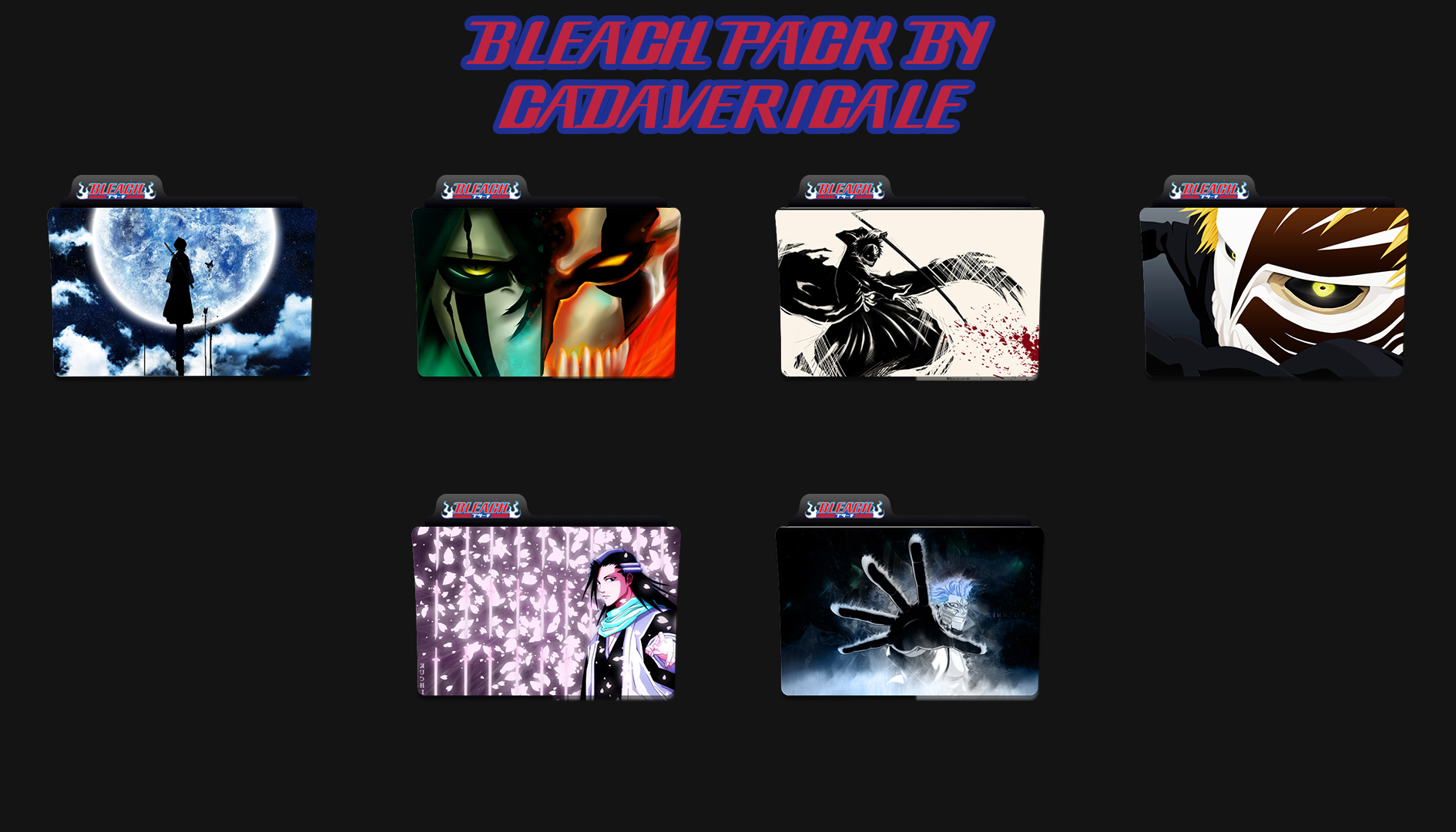 Bleach folder icons pack by Cadavericale on DeviantArt