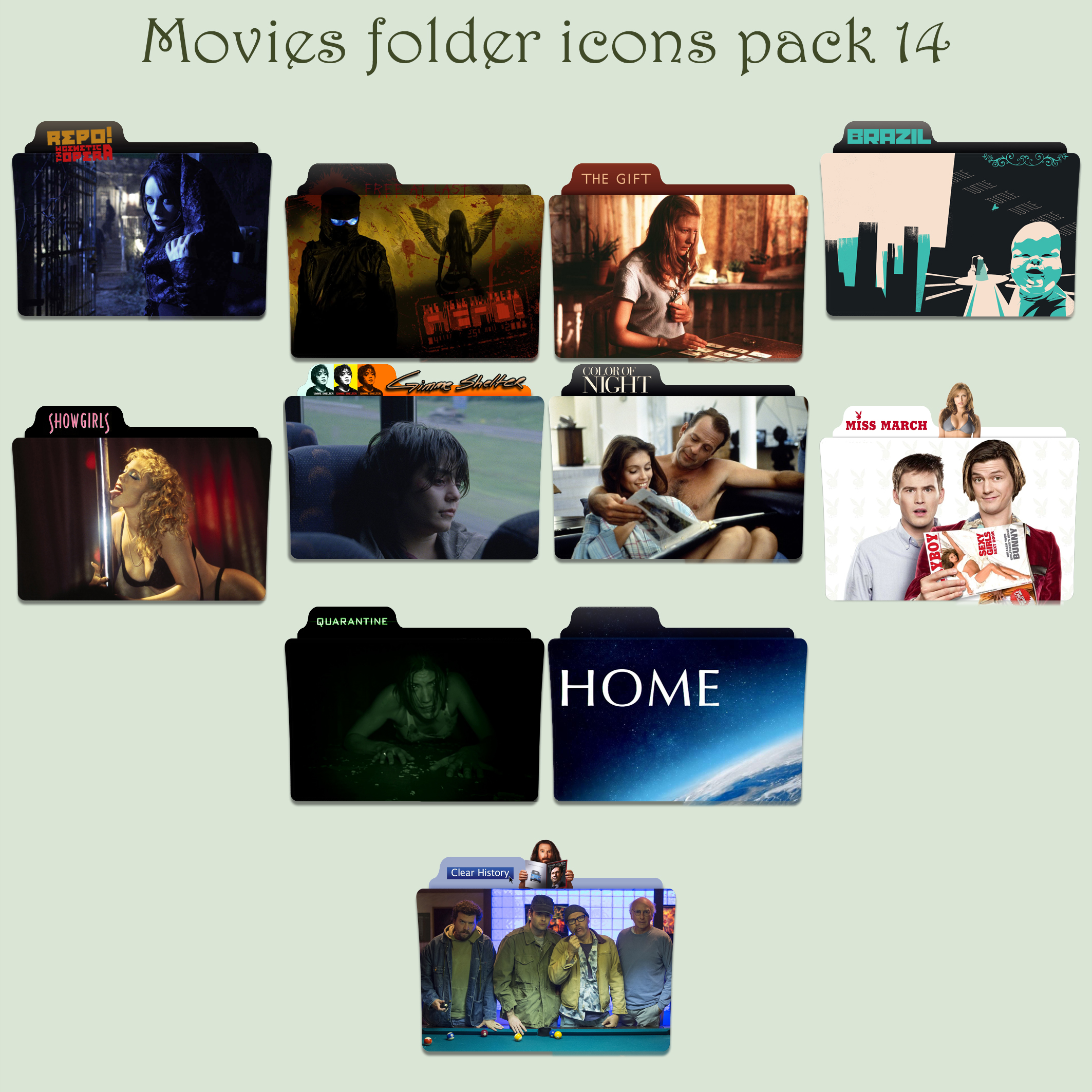 Movies folder icons pack 14 by Cadavericale on DeviantArt