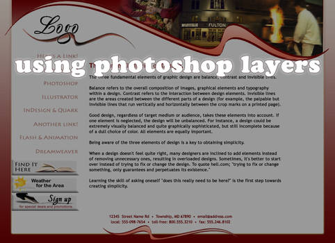 Using Photoshop Layers