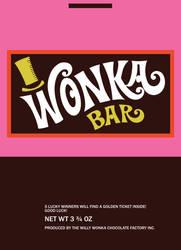 Wonka Bar wrapper by 80sguy
