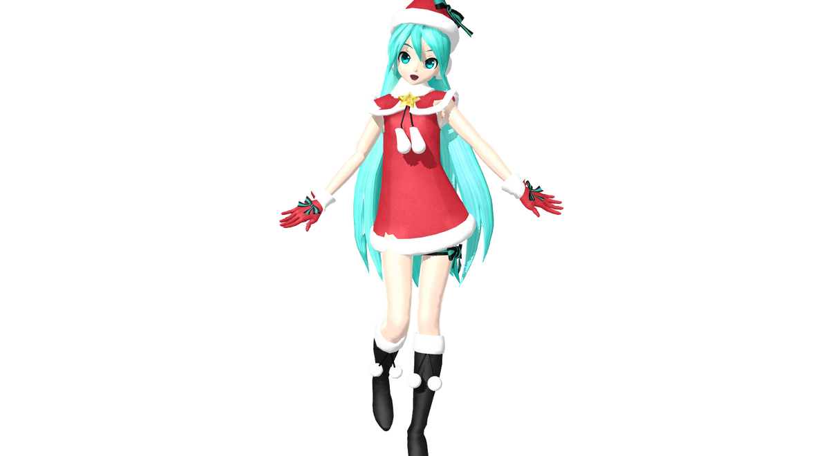DT Christmas Satan Claus Miku:. +DL by Sushi-Kittie on DeviantArt