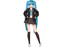 :Xmas Gift - PDA/FT Rolling Girl Miku: DL by Sushi-Kittie