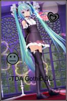 -TDA Gothic Miku Hatsune DL- by Sushi-Kittie