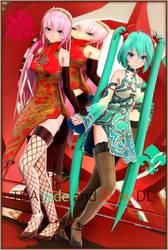 -TDA Hatsune Miku Jade and Megurine Luka Ruby dl- by Sushi-Kittie