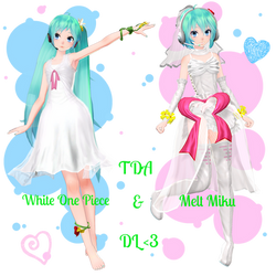 . : TDA White One Piece and Melt Miku dl : .