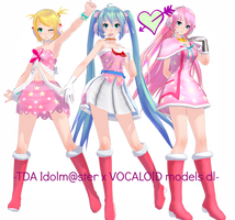. : TDA Idolm@ster x vocaloid models dl : . by Sushi-Kittie