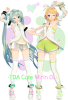 [Xmas Gift]-TDA Cute Miku and Rin download- by Sushi-Kittie