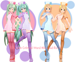 -TDA Love Colored Ward Miku and Rin download-