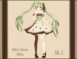 . : Tda Mint Chocolate Miku DL : . by Sushi-Kittie