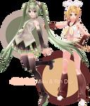 . : TDA Soft Miku and Rin + DL : .