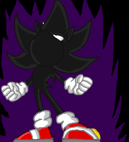how to draw dark super sonic