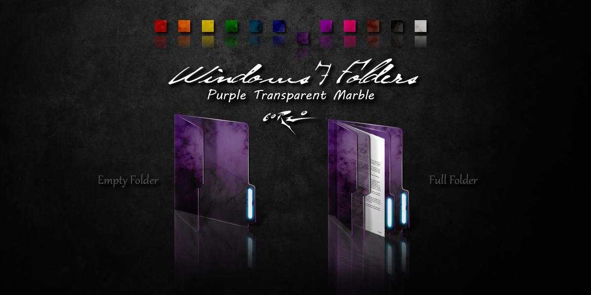 Purple Windows 7 Folders by Drawder